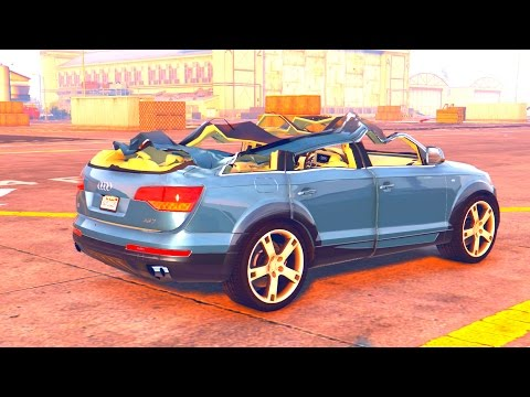 GTA 5 Crash Testing Audi Q7 AS7 ABT MOD