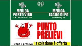 MEDICA PORTO VIRO E MEDICA TAGLIO DI PO  CENTRO PRELIEVI