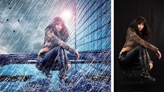 Light with rain effect photo manipulation | photoshop tutorial cs6/cc