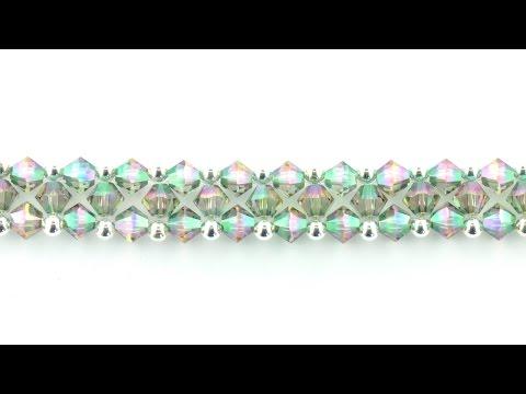 Swarovski XILION Right Angle Weave Bracelet