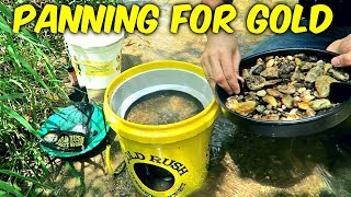 Gold Panning Kit - Gold Rush Nugget Bucket