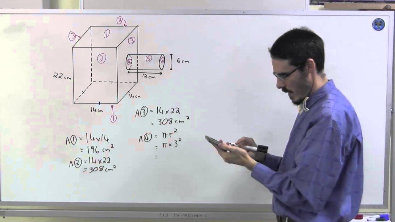surface area prisms worksheet