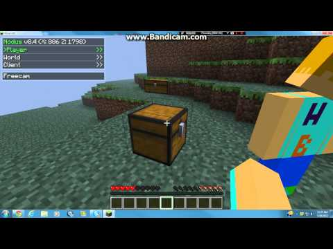 Minecraft 1.2.5 Multiplayer: How to get infinite Items with Nodus Hack Client (OUTDATED)
