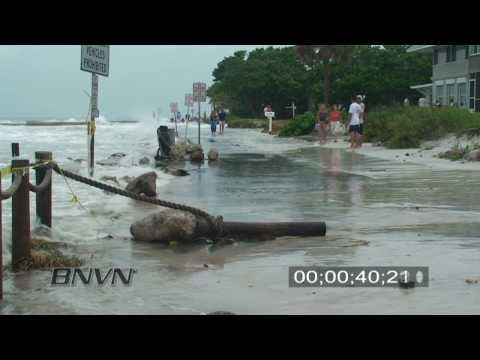8/31/2008 Hurricane Gustav Video. Siesta Key, FL Part 3