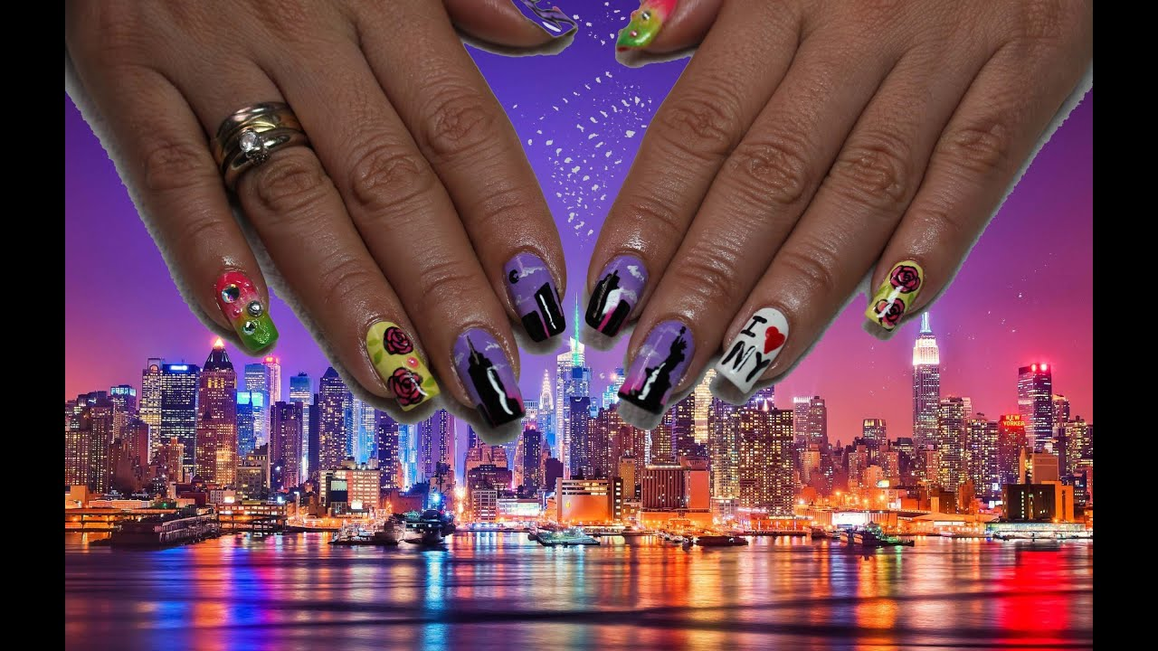 nail art new york con fleury rose diana diaz deko u as. Black Bedroom Furniture Sets. Home Design Ideas