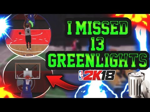 I MISSED 13 GREEN LIGHT JUMPERS IN A ROW - NOT CLICK BAIT !! MOST MISSED GREENS IN NBA 2K18