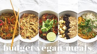5 VEGAN MEALS UNDER £1($1.50) | Budget-friendly Recipes for Beginners