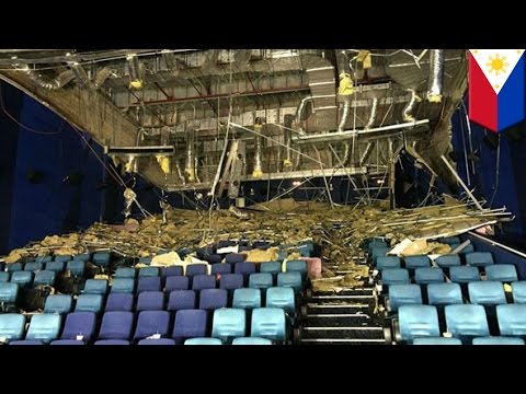 Ceiling collapses onto audience at movie theatre in Cebu, Philippines, injuring 6 - TomoNews