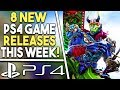 8 NEW PS4 Game Releases THIS WEEK! New SOULS LIKE Game, BIG Fighting Game + More!