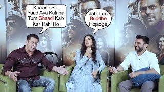 Salman Khan Makes FUN of  Katrina Kaif Marriage Plans in Bharat Movie Promotions