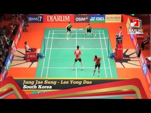 Jung Jae Sung - Lee Yong Dae (South Korea) Action Of The Day DJARUM Indonesia Open 2012