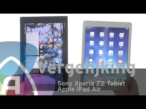 Sony Xperia Z2 Tablet vs Apple iPad Air review (Dutch)