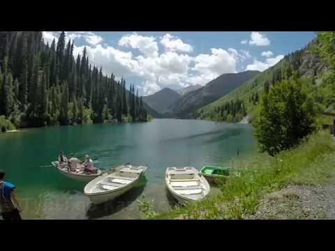 Кольсайские озера. Первое озеро. Туры по Казахстану.