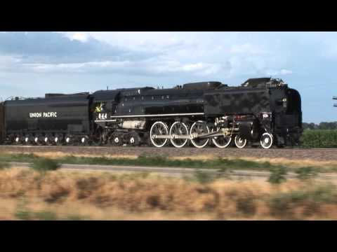 Union Pacific 844 whistles UP 4014 Big Boy News