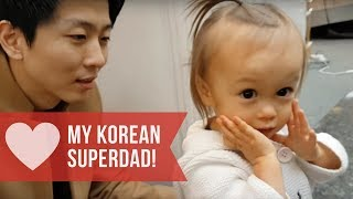 Korean Dad and hapa Daughter special moments AMWF international couple 아빠와딸 パパと娘 国際結婚 ハーフ