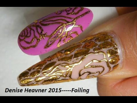 FOIL NAILS with ---HAIR GLUE----WHAT ? -----WORKS FANTASTIC !!!