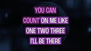 Count On Me Karaoke Version Bruno Mars Tracksplanet