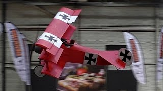 GIGANTIC XXXL RC SCALE 1:2 FOKKER DR1 INDOOR LIGHTWEIGHT SCALE MODEL AIRPLANE / Intermodellbau 2016