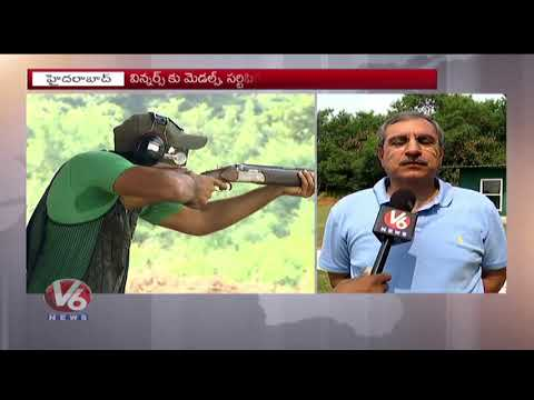 Telangana Team A Bags Gold Medal In South Zone Shooting Competitions | Hyderabad | V6 News