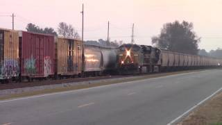 Rare on the W&W Sub Northbound Loaded Grain Train F926-18 ES40DC/ET44AH Horn Salutes & Notch 8