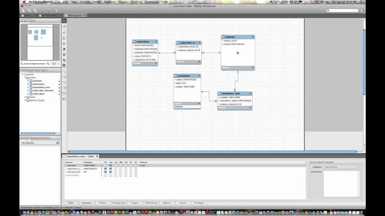 mysql er diagrams tutorial entity relationship modeling with    mysql    workbench youtube  entity relationship modeling with    mysql    workbench youtube