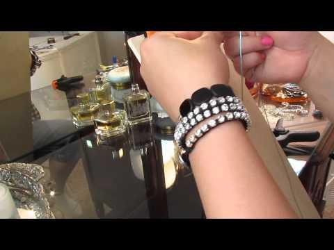 Rhinestone wrap bracelet - diy - bling it on!