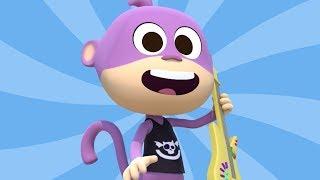El Mono Toca La Guitarra - Canciones del Zoo 5 | El Reino Infantil