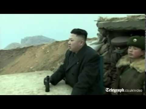 Kim Jong-Un Looking Through Binoculars