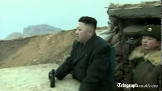 Kim Jong-un inspects Korean border base