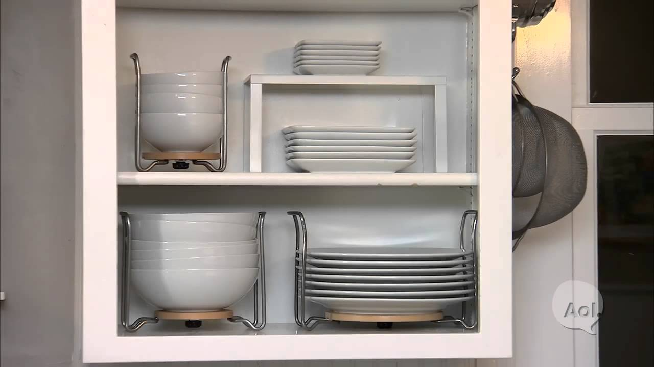 How To Organize Exposed Shelving In The Kitchen Youtube