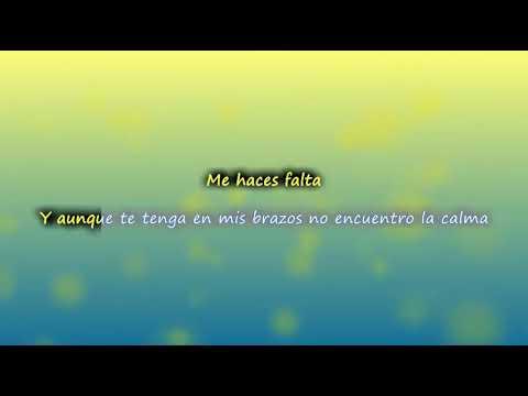 Antonio Jose - Me Haces Falta ( letra ) | VEVO LETRA VIDEO