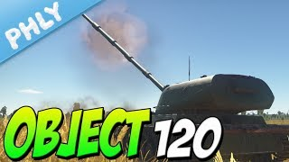 The Russian SPACE GUN - OBJECT 120 DAAA (War Thunder Tanks 1.71 Gameplay)