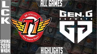 SKT vs GEN Highlights ALL GAMES | LCK Spring 2019 Week 4 Day 4 | SK Telecom T1 vs Gen.G