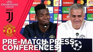 Jose Mourinho and Paul Pogba Ready for Juventus Test | Press Conference | Manchester United