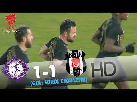 Osmanlıspor: 1 - Beşiktaş: 1 | Gol: Sokol Çikalleshi