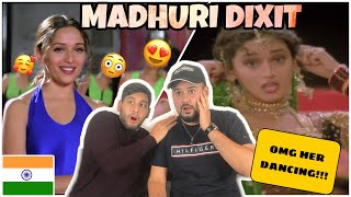 "GERMAN Reaction to MADHURI DIXIT Part 2: Anjaam ""Chane Ke Khet Mein"" & Dil to Pagal hai ""Are re Are"""