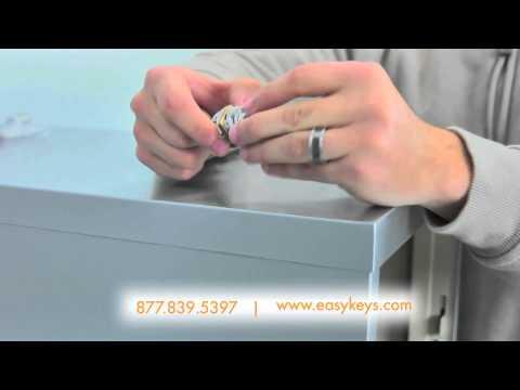 Olympus Lock FC10 Installation on HON File Cabinet