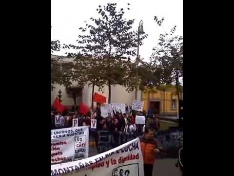 Manifestación Publica en el cuartel militar de Orizaba, Veracruz.