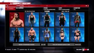 WWE 2K15 downloading superstars