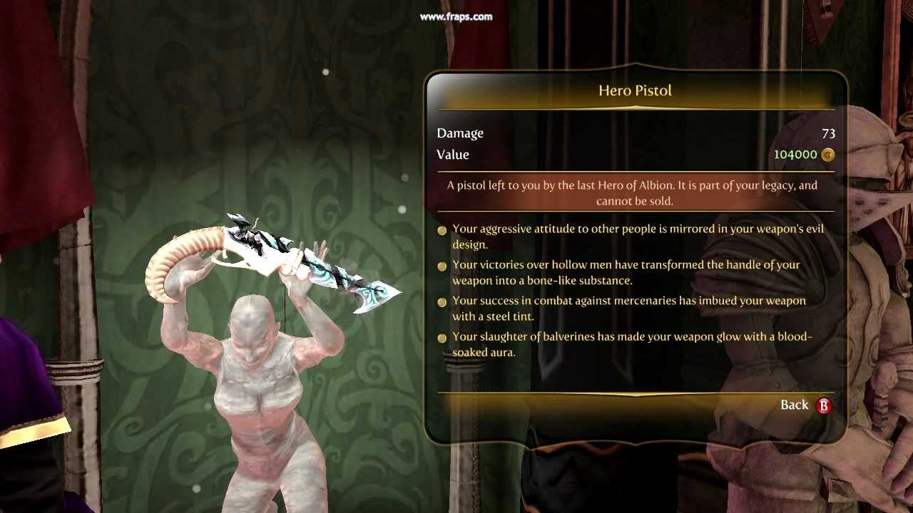 Fable Evil Hero Fable 3 Hero Weapons Perfect
