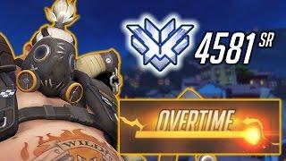 OVERTIME VICTORY! Roadhog / Zarya Dorado Overwatch 4581 SR