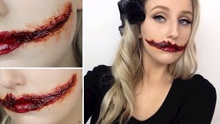 The Black Dahlia Slit Mouth SFX Tutorial - AMERICAN HORROR STORY SERIES