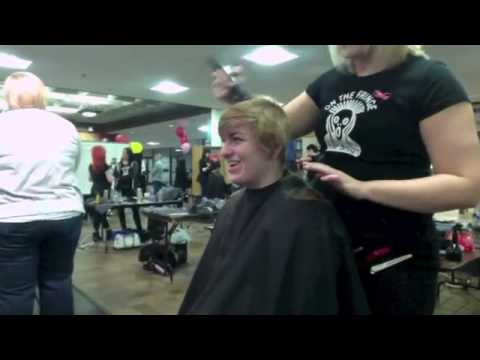 haircut on cute blonde to almost headshave ( press like or comment)