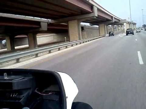 This golf cart is faster than most cars! 110 HP Motorcycle engine Speeding on Highway! (Pt. 2)
