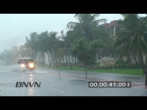9/10/2008 Hurricane Ike Video, Siesta Key Florida Street Flooding.