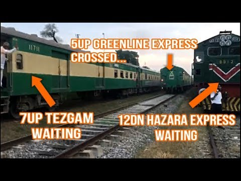 Greenline Cross Two Trains At Kala Gujran | The Perks of Being Premium Train