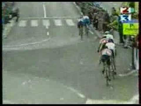 1997 World Cycling Championship Finish San Sebastian / Donostia. Brochard!