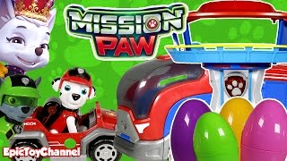 PAW PATROL MISSION PAW Sweetie Stole Marshall + Paw Patrol Surprise Eggs and Misson Paw Toys