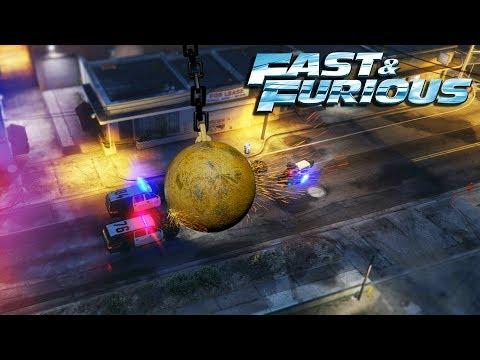 GTA V - Fast & Furious 8 WRECKING BALL Scene