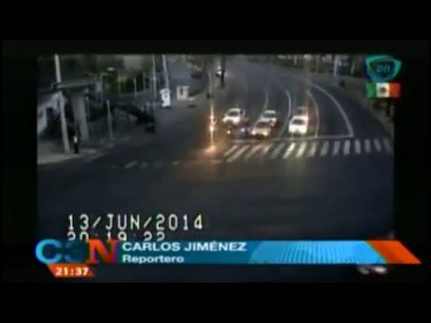 Revelan video de un asalto a motociclista en calles capitalinas